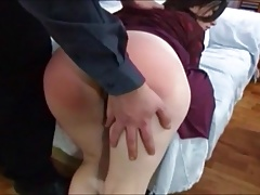 Wifes cunt gets swollen and wet when hobo spanked.