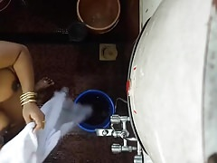 Desi Indian mom hidden cam washed 3