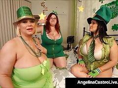 Hot BBWs Angelina Castro Sam 38g & Trilogy G - Dildo Fuck!