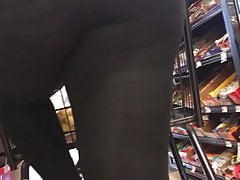 Young Sulky BBW See Thru in Black Leggings.
