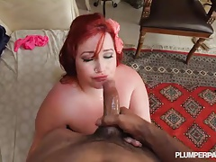Busty Redhead BBW Babe Eliza Allure loves to Fuck Big Cocks