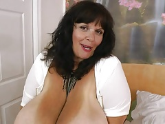 BBW granny with enormous tits