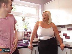 Agedlove matured chubby blowjob and doggystyle