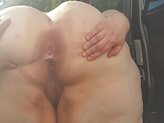ssbbw V ass with an increment of creampied perishable pussy